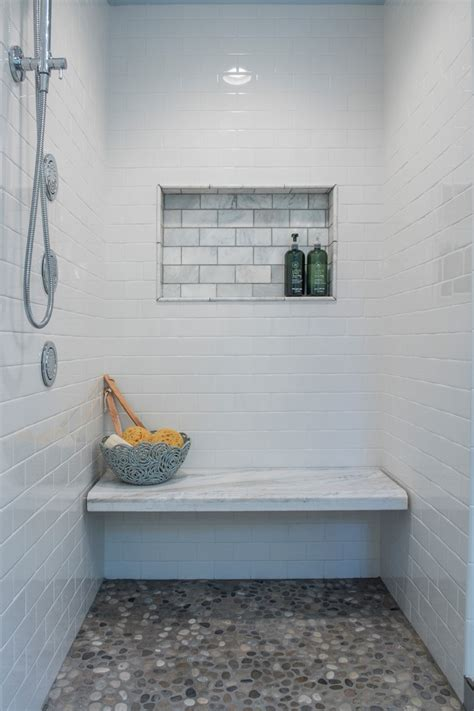 shower built in bench built in shower bench in bathroom transitional with built