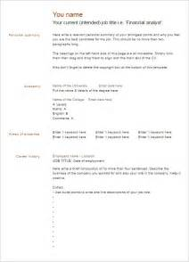 Templates For Resumes Word by Blank Resume Templates Free Psd Word Format Creative