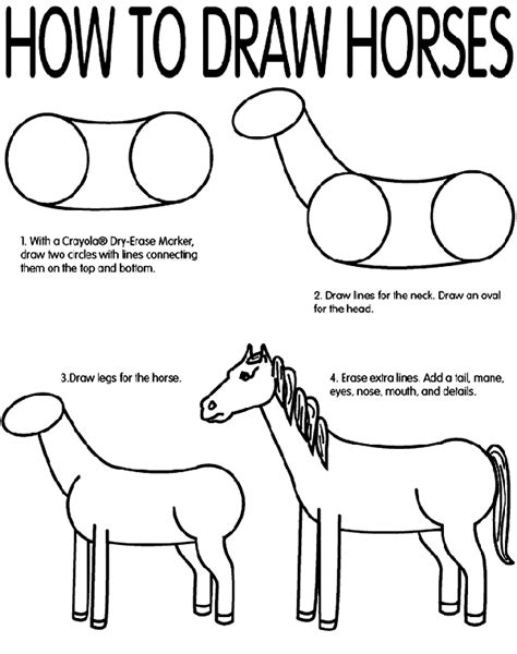 crayola coloring pages horses how to draw horses crayola com au