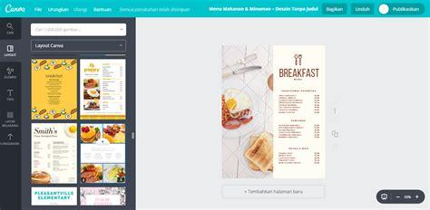design menu makanan unik membuat desain menu makanan american breakfast unik canva