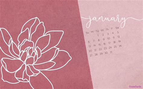 january  flower desktop calendar  january wallpaper