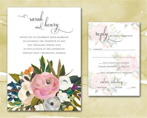 watercolor wedding invitations diy wedding invitations printable diy wedding invitations wedding invites watercolor blooms