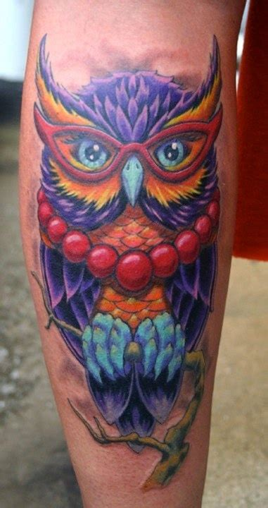 color owl tattoo 25 best ideas about colorful owl on