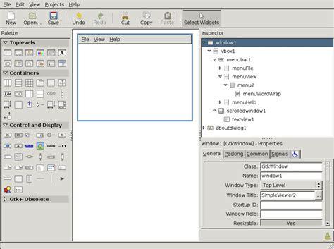 pattern programs in c sharp c gtk glade tutorial on debian sid