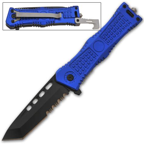 assisted blade knives tanto blade assisted knife blue