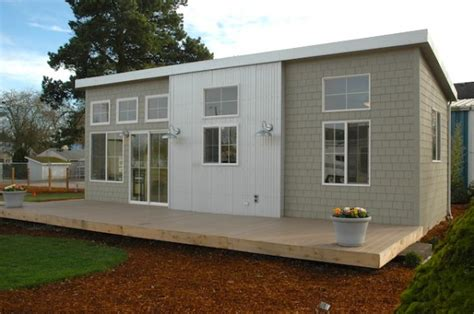 tiny house on slab nw modern ideabox 400 sq ft prefab home from salem or it can be placed on a concrete slab