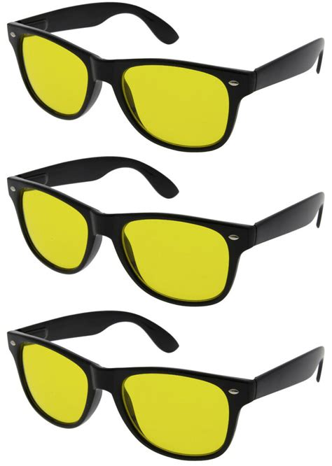 blokker timer l 3 pairs hd night or day time blue blocker sunglasses
