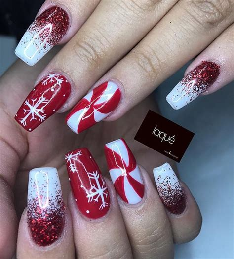 festive  easy christmas nail art designs