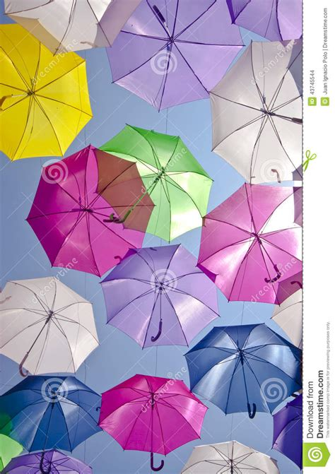X2 3746 St Umbrella with colored umbrellas agueda portugal stock photo image 43745544