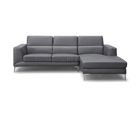 leather sofa sydney sydney sectional sofa in gray faux leather by whiteline