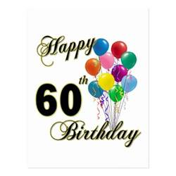 happy 60th birthday gifts and birthday apparel postcard zazzle