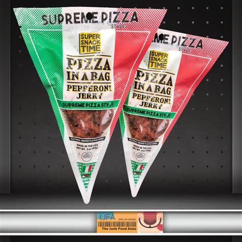pizza   bag pepperoni jerky supreme pizza  junk