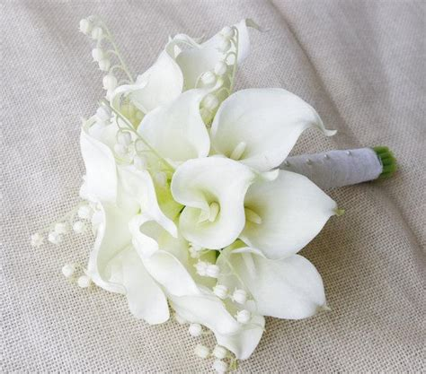 Wedding Bouquets Using Calla Lilies by Touch Calla Lilies Bouquet In White Silk
