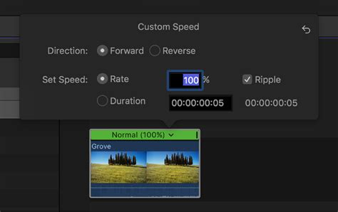 final cut pro how to speed up clip final cut pro x change clip speed