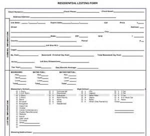 Real Estate Listing Form Template Real Estate Listing Form Purple Realestate Realtor
