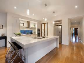 Unusual Countertop Materials modern island kitchen design using hardwood kitchen