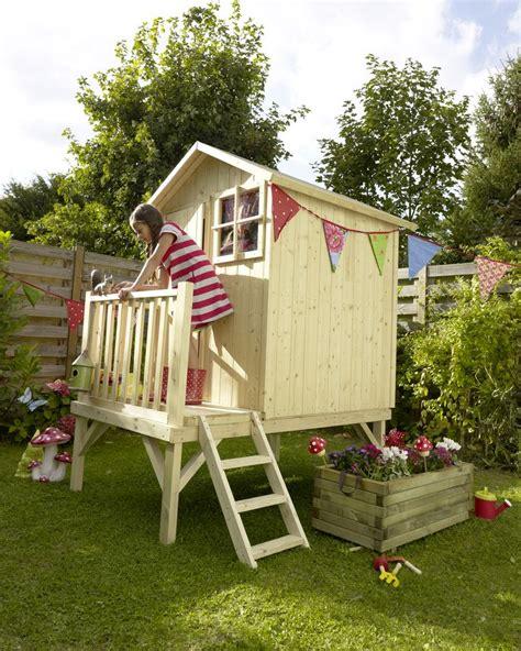 cabanne jardin enfant maisonnette blooma alisma castorama projet cabane dans le jardin