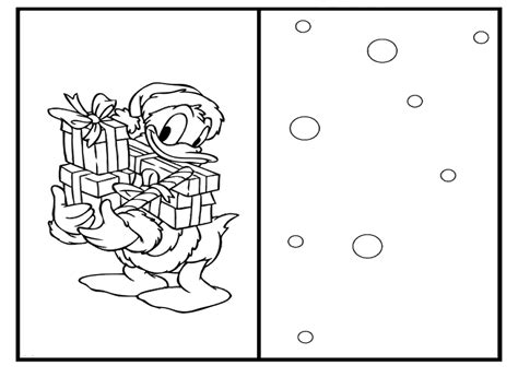 donald duck christmas card coloring pages christmas coloring