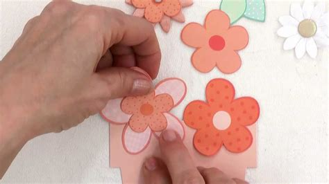 how to make paper flowers in the pretty posies card