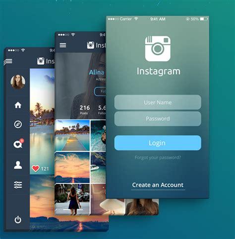 graphic design instagram app mobile app design inspiration instagram redesign