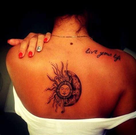 upper body tattoos back tattoos back sun moon