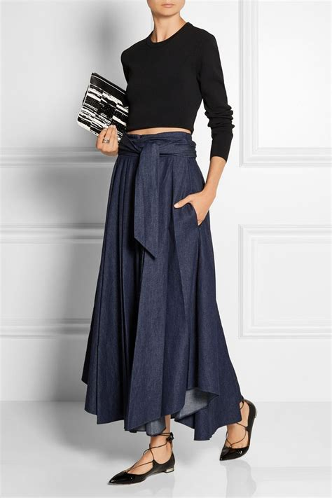 Denim Maxi Style 30 best images about maxi skirts on greyish