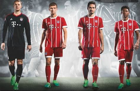 Jersey Bayern Munchen Home Go New Season 2017 18 Grade Ori bayern munich jersey 2017 2018 home away and third kits footballplayerpro