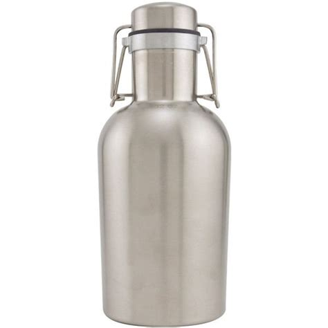 swing top growlers stainless steel swing top growlette beer growler 1 liter