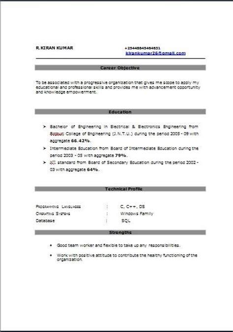 Sle Resume For Bpo Fresher Fresher Sle Resumes Sle Fresher Resumes For Experienced And Freshers