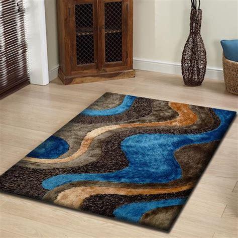 blue and brown shag rug brown with blue shag rug rug addiction