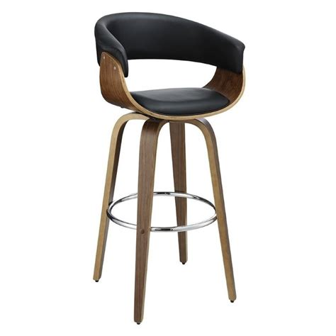 black padded bar stools coaster upholstered bar stool in black and walnut 100205