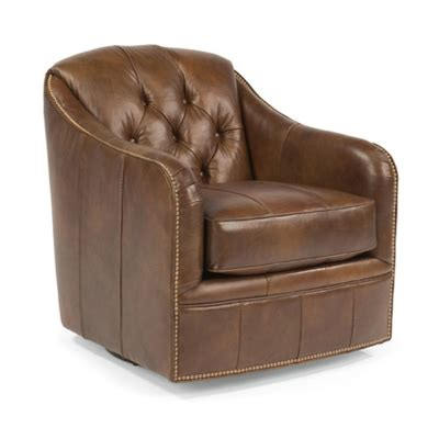 Flexsteel B3080 11 Fairchild Leather Swivel Chair Discount Flexsteel Swivel Chair