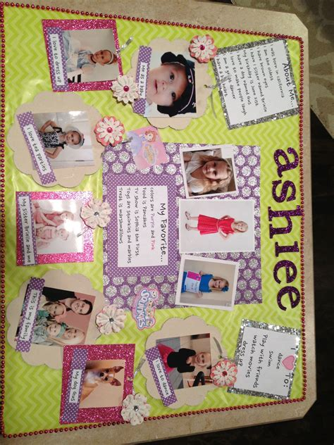 project collage template design projects quot all about me quot poster for school kid s stuff