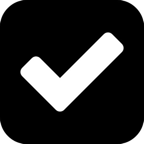 Section 318 Attribution by Check Sign In A Rounded Black Square Icons Free