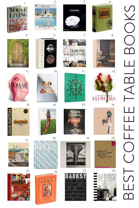 24 great coffee table books elements of style
