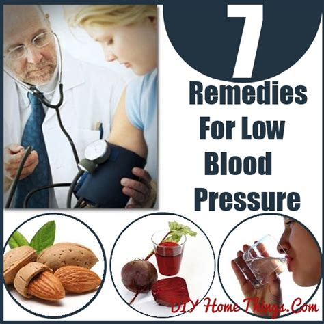7 home remedies for low blood pressure diy home things