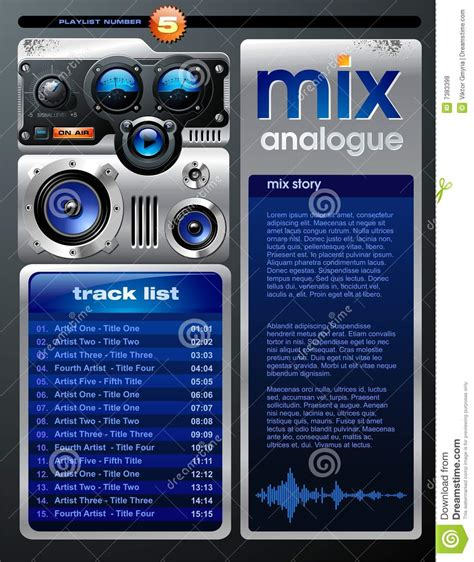 video playlist layout playlist layout royalty free stock photos image 7383398