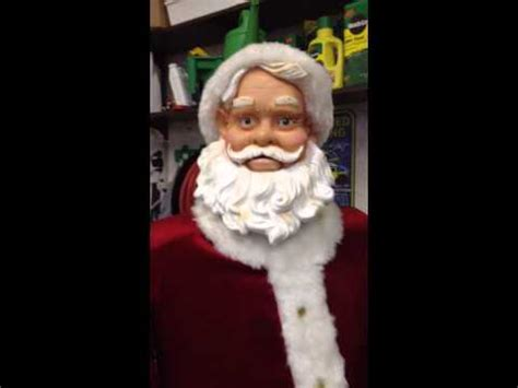 gemmy animated singing 5ft size santa claus walmart 5 songs