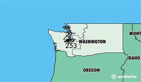 washington area codes area code 206 253 425 360 and 509 where is area code 253 map of area code 253 tacoma wa