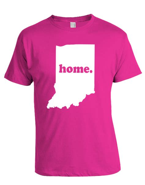 indiana home t shirt pink house ink