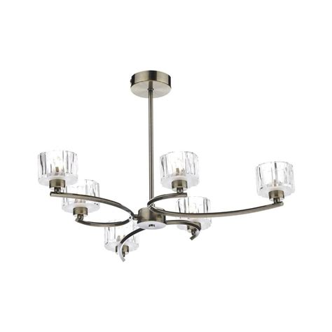 Modern Antique Brass Ceiling Lights Dar Lighting Lag0675 Laguna 6 Light Modern Antique Brass And Semi Flush Ceiling Light