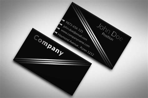 black and white business cards templates free 60 only the best free business cards 2015 free psd