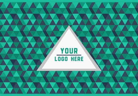 pattern logo green triangle geometric logo background vector download