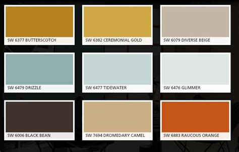 our colors bottom three are actually valspar colors fired earth is the brown burnt brick