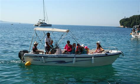 boat hire kassiopi prices seastar 30 corfu kalami boat hire blue bay boats