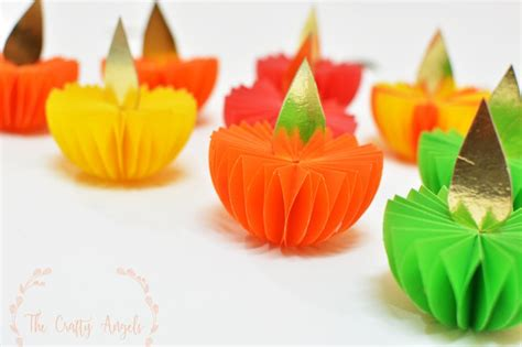 Paper Craft Ideas For Diwali - diwali craft paper diya tutorial