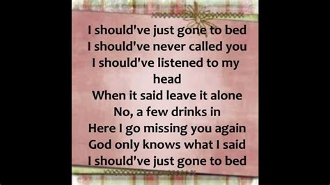 plain white t s should ve gone to bed should ve gone to bed plain white t s lyrics youtube