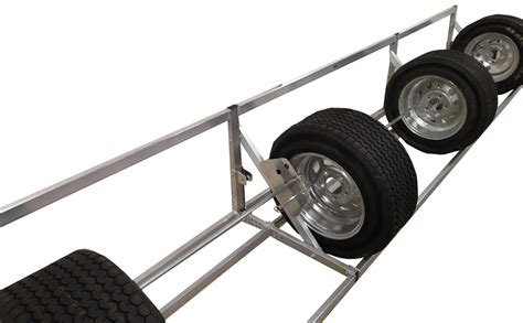 pit products 9 ft deluxe universal tire rack