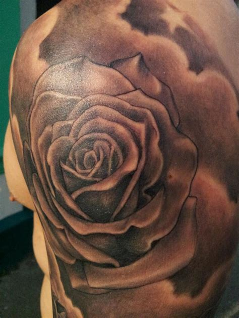 rose and star tattoo grey gallery rob s studio bradford west