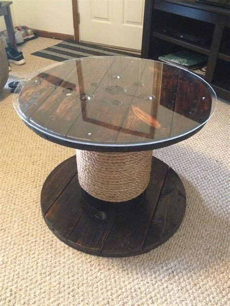 Ideas For Nautical Coffee Table Design Patio Table From An Wire Spool Diy